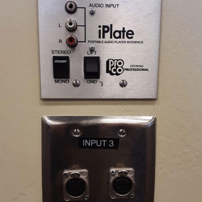 Pro Co iPlate XLR Inputs