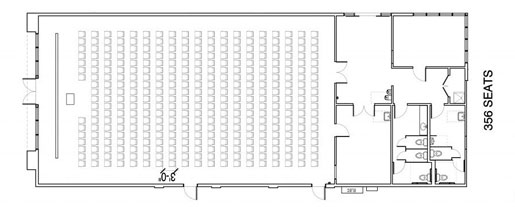 Floor Layout #06 <BR>356 Individual Seats