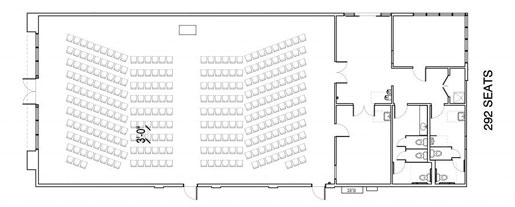 Floor Layout #08 <BR>292 Individual Seats