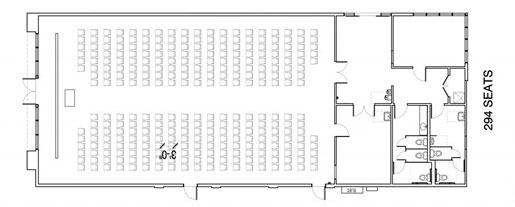Floor Layout #09 <BR>294 Individual Seats
