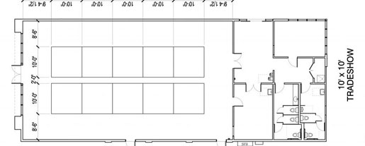 Floor Layout #13 <BR>10 - 10' x 10' Tables <BR>TradeShow