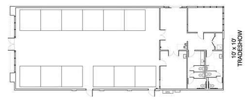 Floor Layout #14 <BR>12 - 10' x 10' Tables <BR>Tradeshow